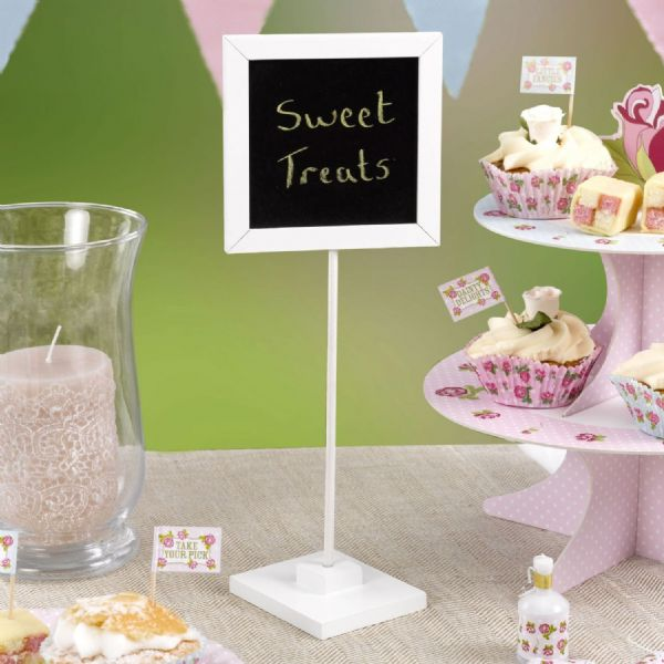 White Chalkboard Table Sign (5)